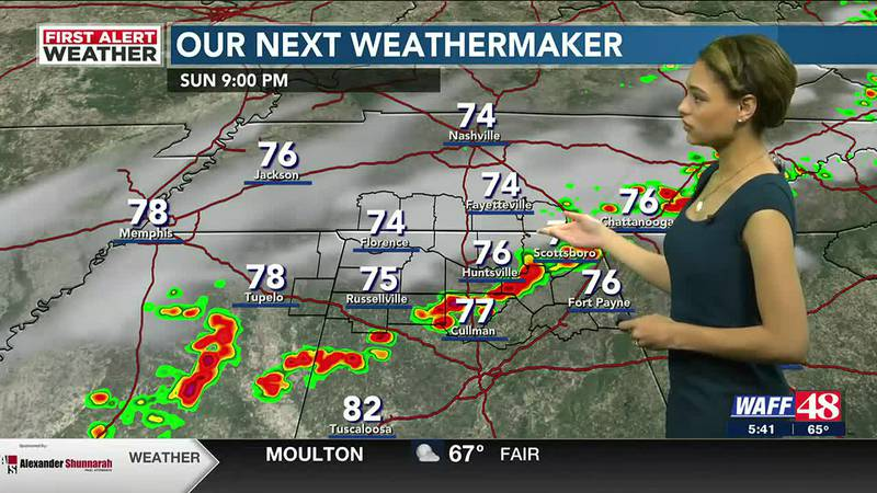 Cold front to bring rain and storms Sunday night into Monday