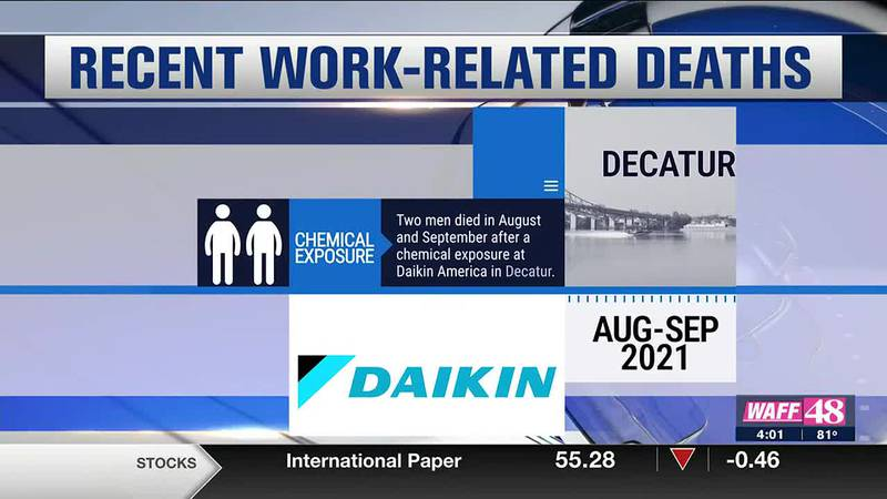 Recent work-related deaths