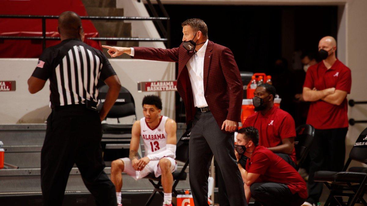 2/3/21 MBB Alabama vs  LSU Alabama Head Coach Nate Oats