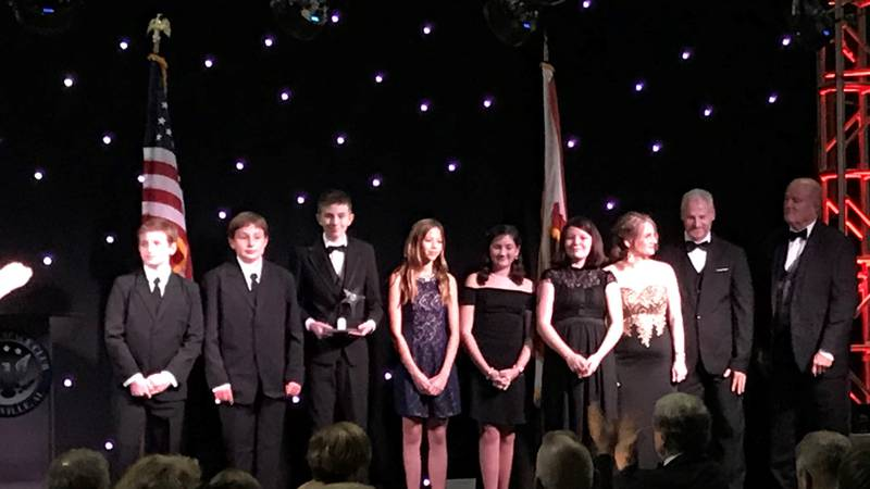 Several students were recognized for their accomplishments at the Wernher von Braun Memorial...