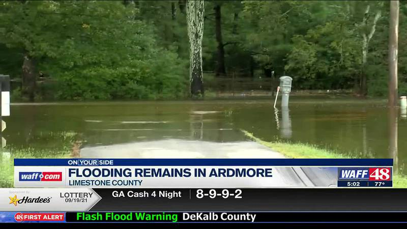 Flooding remains in Ardmore
