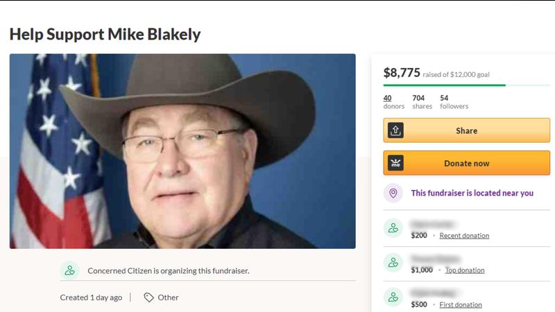 GoFundMe for former Sheriff Mike Blakely
