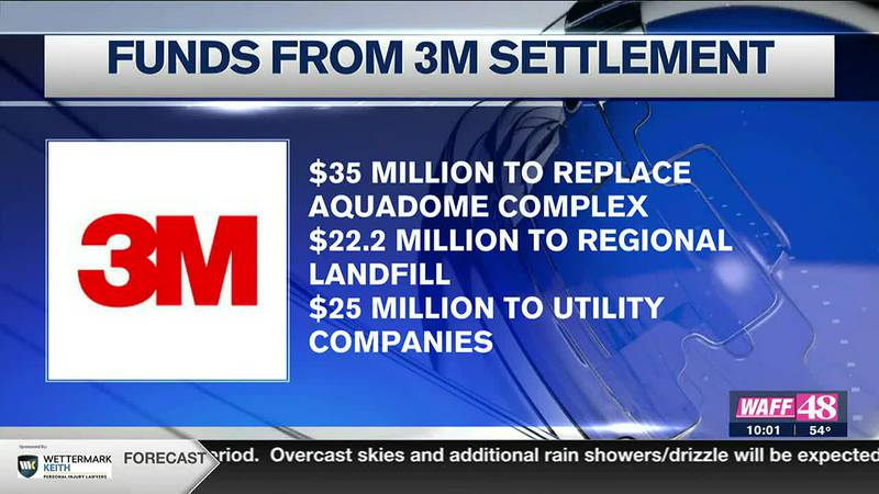 Funds from 3M settlement