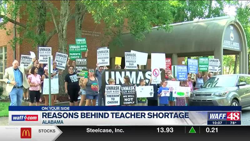 Alabama is seeing a shortage in teachers