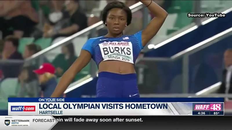 Local olympian visits hometown