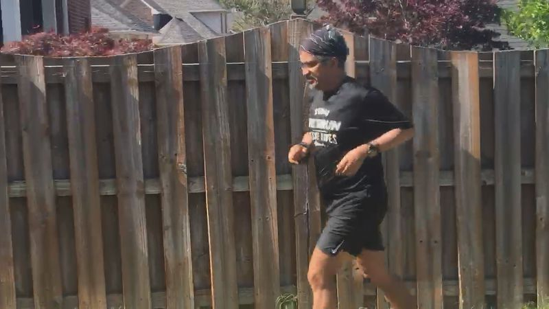 He's run marathons around the world, but Suman Silwal never thought he'd run one in his own...