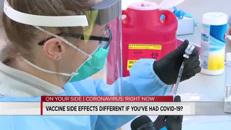 Vaccine side effects different if you've had COVID-19?