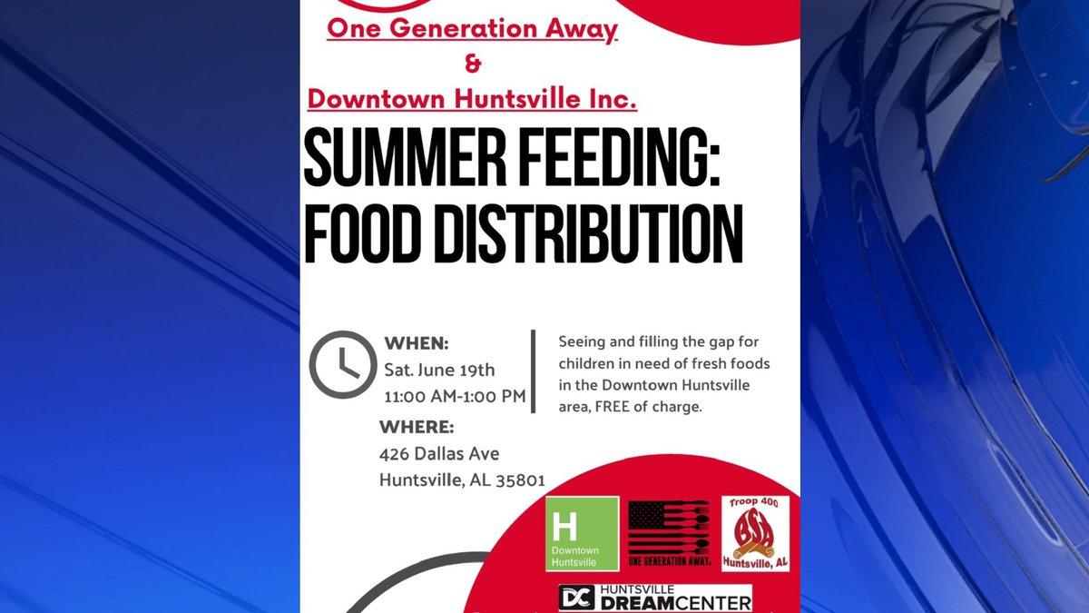 One Gen Away, Downtown Huntsville Inc. hosting food distribution