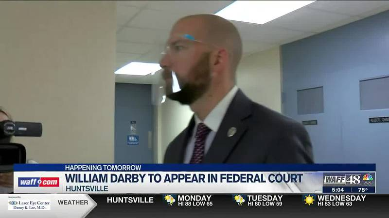 William Darby to appear in federal court on Monday