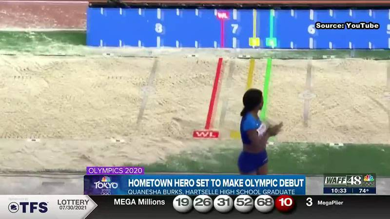 Friends of Hartselle Olympian Quanesha Burks are ready to cheer her on!