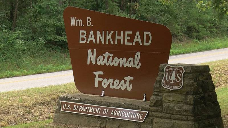 Welcome sign for the Bankhead National Forest