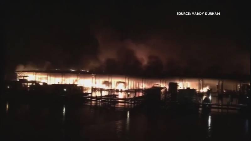 Deadly boat fire at Jackson County Marina on January 27, 2020.