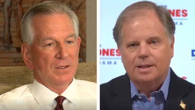 Tommy Tuberville and Senator Doug Jones will face off in the Nov. 3 election for the Senate seat.
