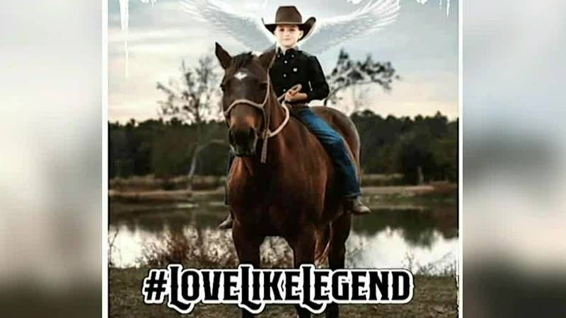 Legend was killed when his horse had a heart attack and fell on him at the Texas Junior High...