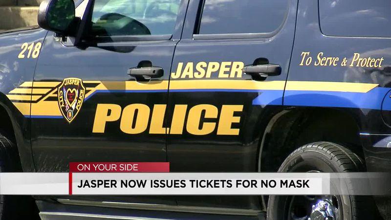 City of Jasper face mask enforcement