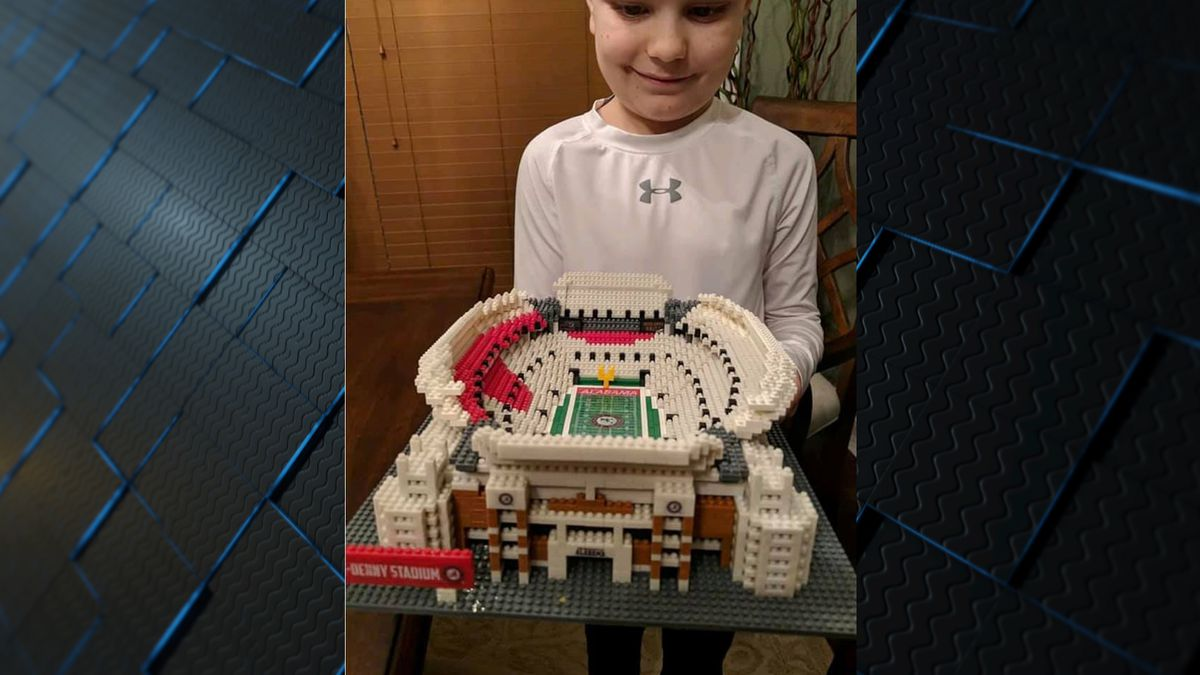 Tillman Sockwell built a replica of Bryant-Denny Stadium out of Legos.