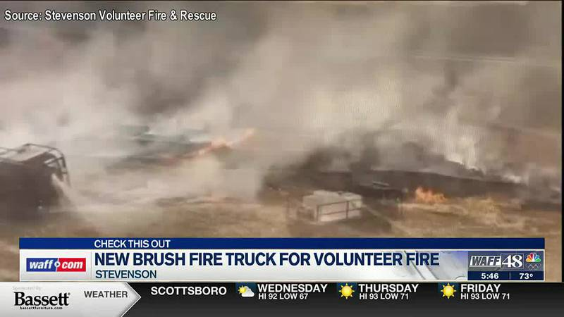 The Stevenson Volunteer Fire and Rescue has a brand new brush fire truck