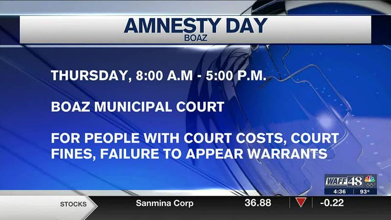 Amnesty days offered in Boaz