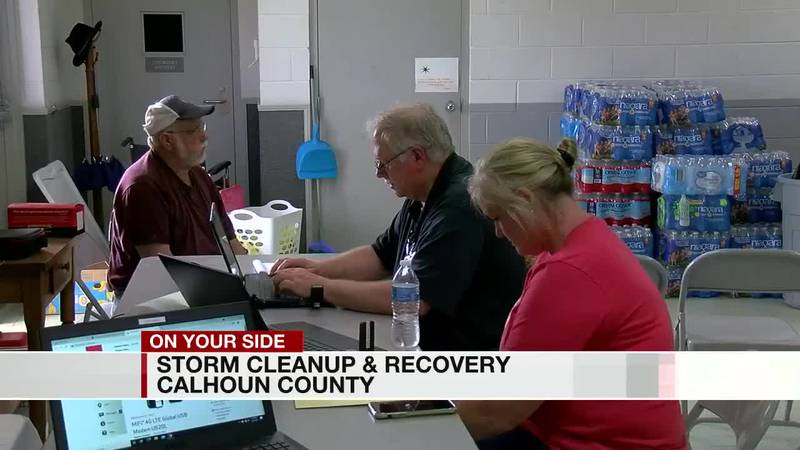 Calhoun Co, Storm damage and recovery