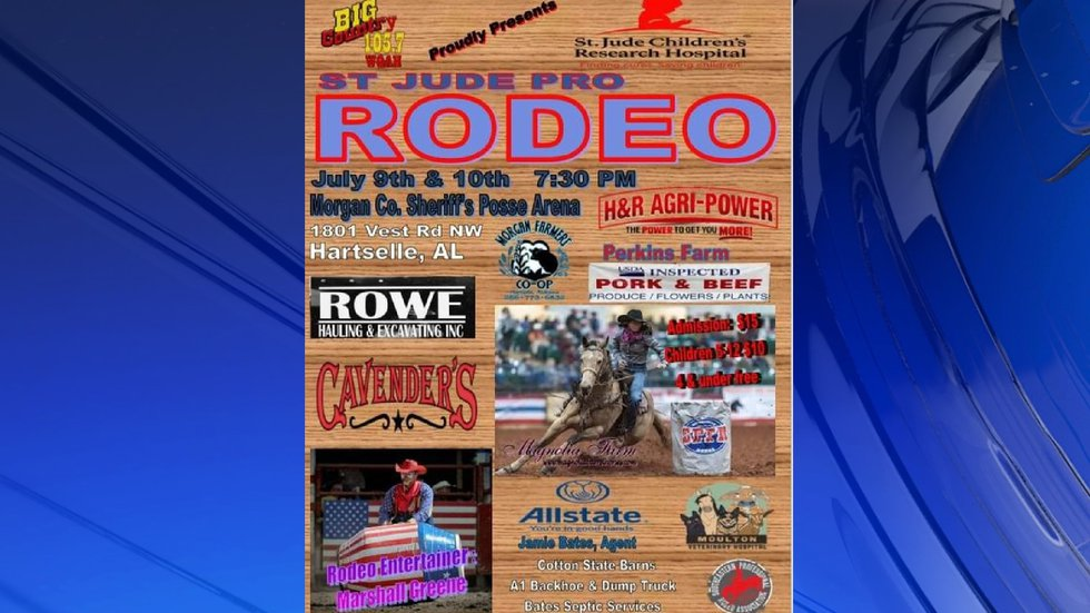 The Morgan County Sheriff's Office is hosting the Saint Jude Rodeo.