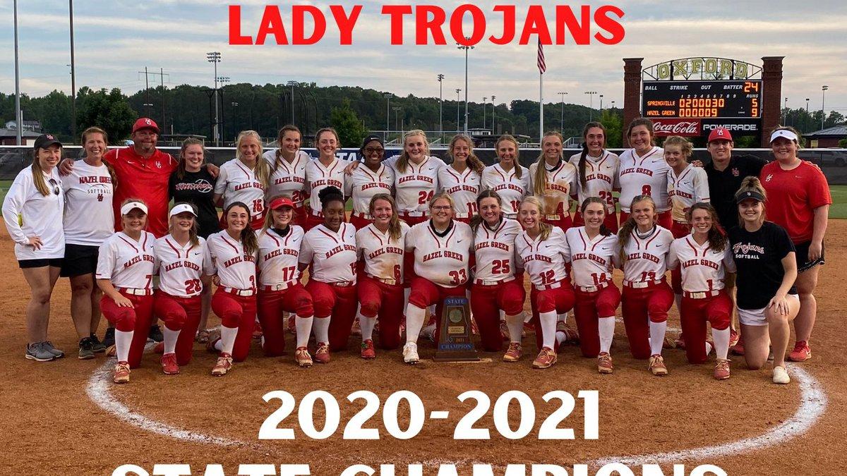 Hazel Green Lady Trojans win 6A state softball championship
