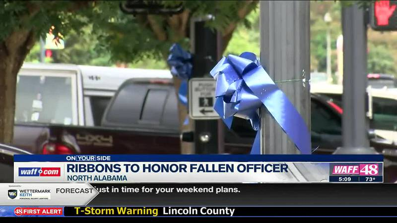 Ribbons to honor fallen officer