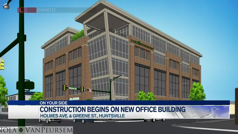 New five-story office building coming to downtown Huntsville