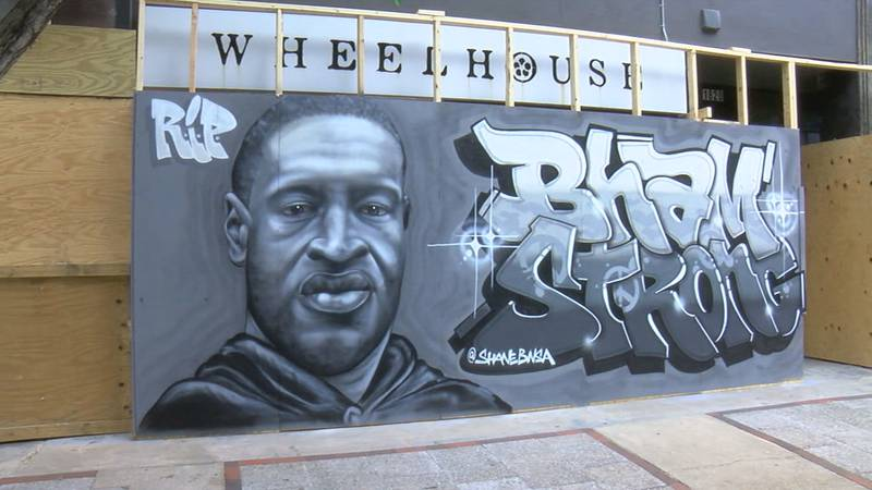 We told you about the George Floyd mural in downtown Birmingham that was defaced last...