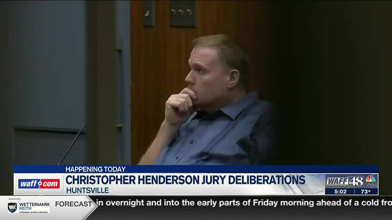 Jury deliberations continue on Thursday in Christopher Henderson trial