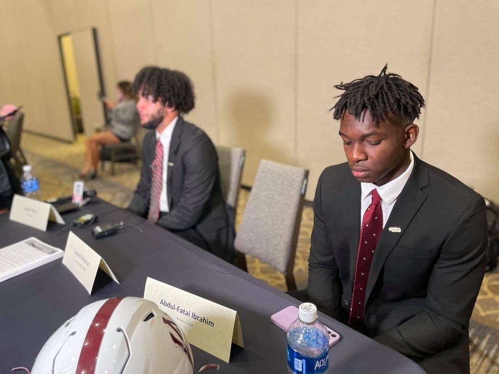 Alabama A&M Football players at SWAC Media Days