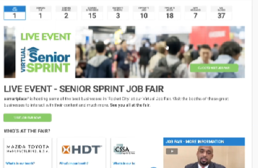 The Huntsville Madison County Chamber's Senior Sprint is being moved online this year, but high...