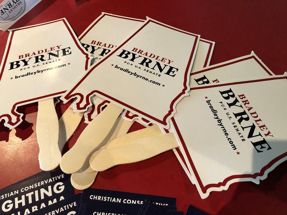 Bradley Byrne election campaign signs.