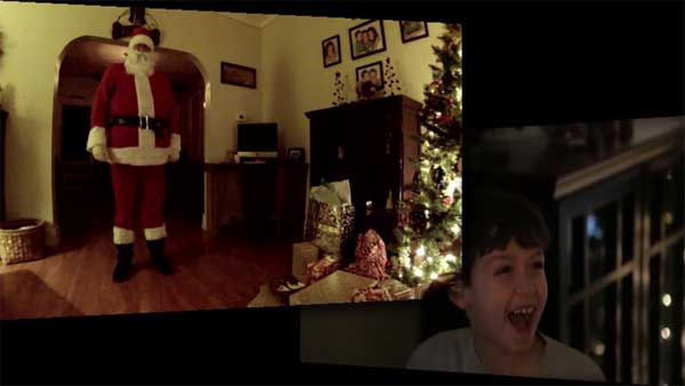 A 7-year-old boy caught a video of Santa Clause on Christmas Eve. (Source: YouTube.com)