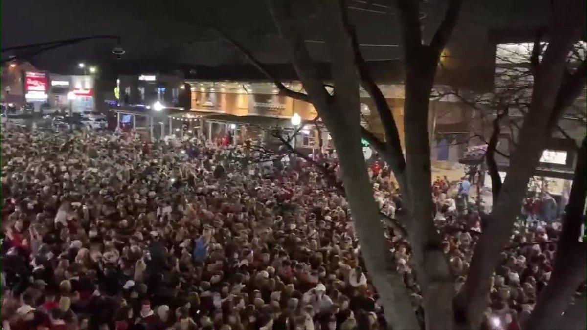 Massive celebration crowd in Tuscaloosa SOURCE: James Benedetto