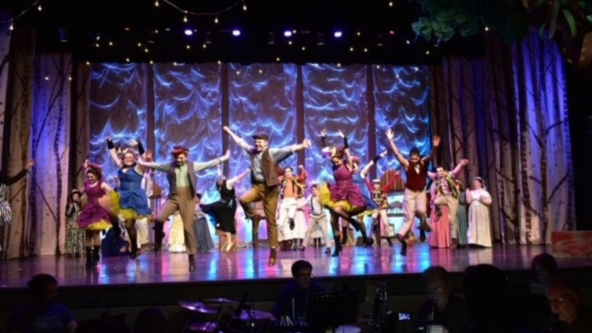 Matthew Beutjer (pictured in front) performing as Jesse in Tuck Everlasting