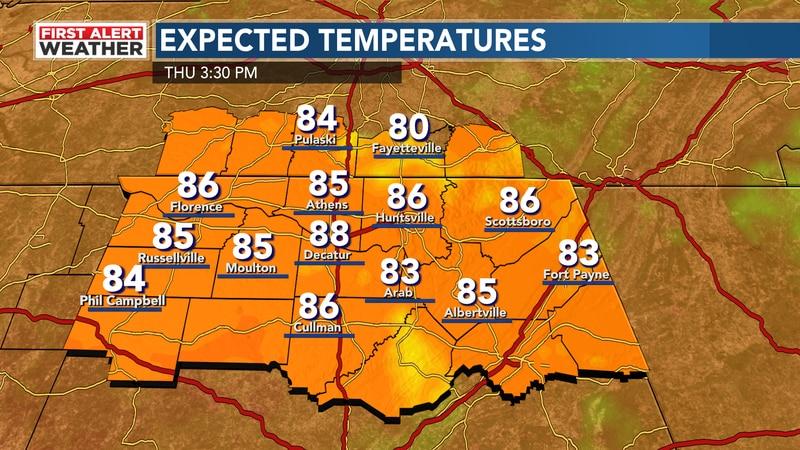 Heat returning today