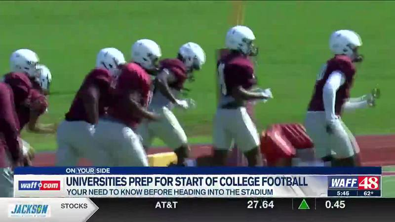 Universities prep for college football kickoff