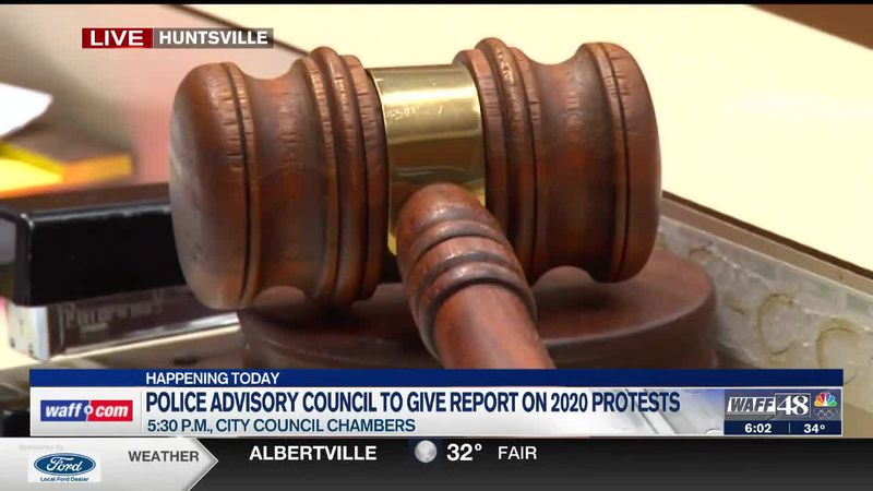 Huntsville Police Citizens Advisory Council to give report on 2020 protests Thursday