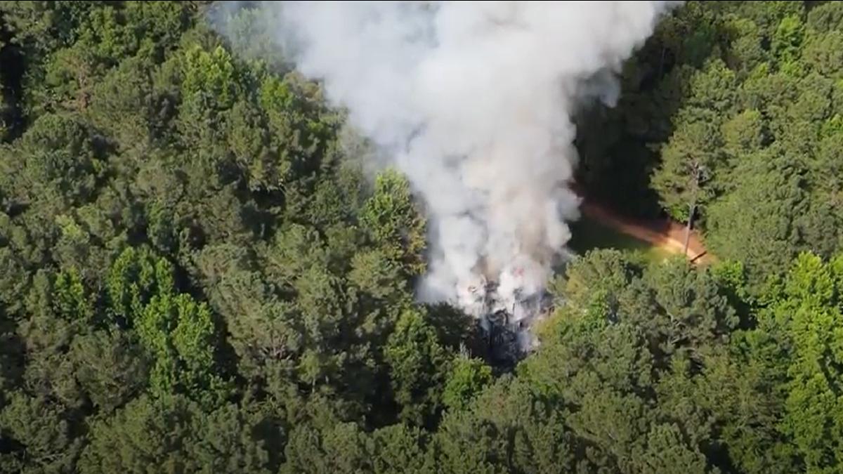 Fire at a home on Walnut Creek Road in Killen