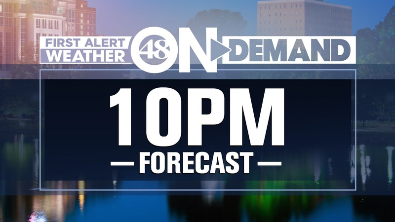 WAFF 48 Weather Forecasts at 10 p.m.
