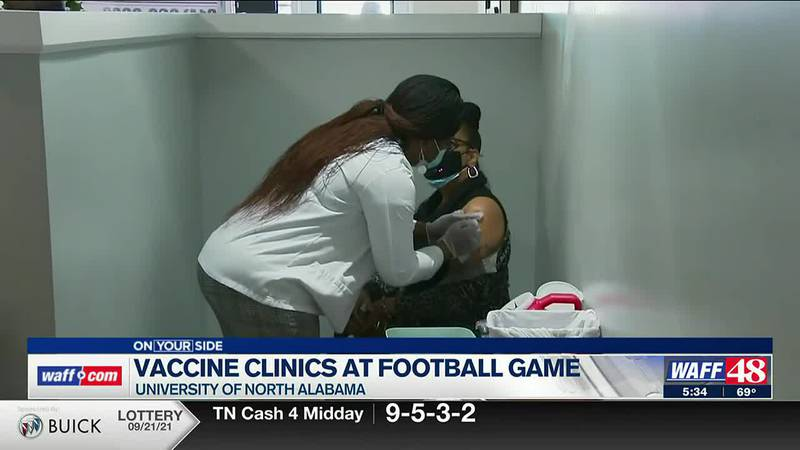 Vaccinations offered at football games around the state