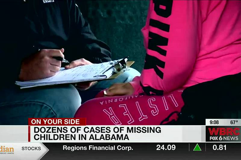 Dozens of missing children cases in Alabama