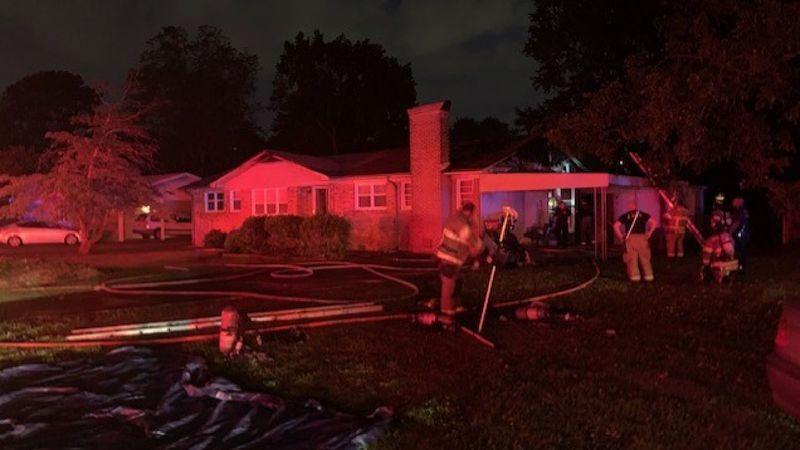 House fire on Marsh Avenue