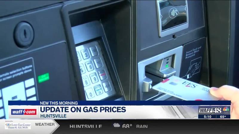 Latest on Huntsville gas prices
