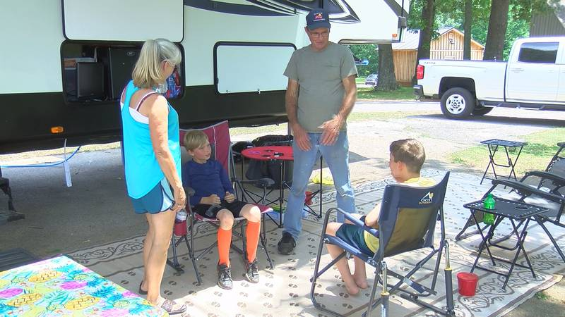 As you drive around Sharon Johnston Park in Madison County, you will see dozens of RV's, with...