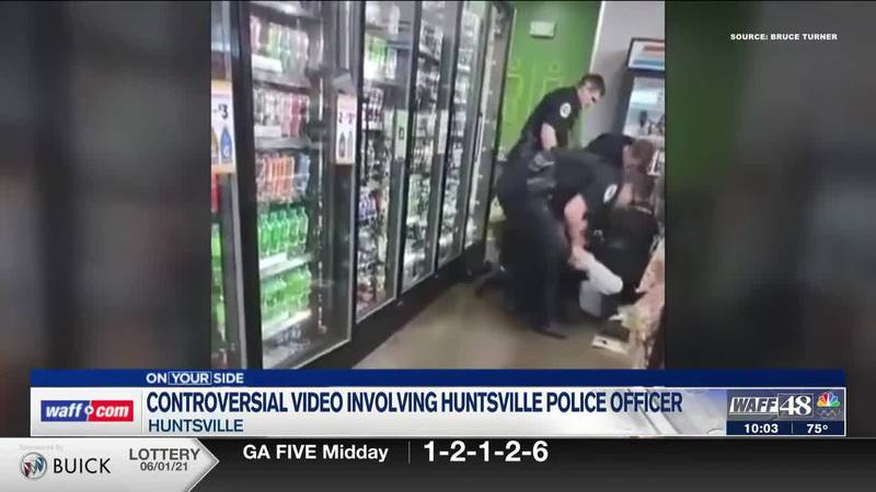 Huntsville police, mother of victim respond after officer is seen kicking arrest subject at a...