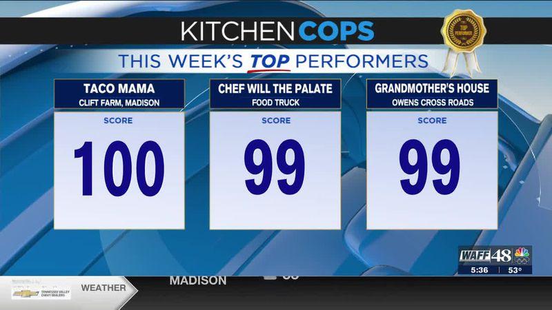 Kitchen Cops: Top Performers this week