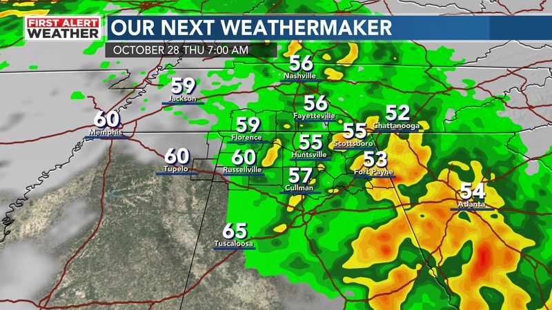 Storms move in late week