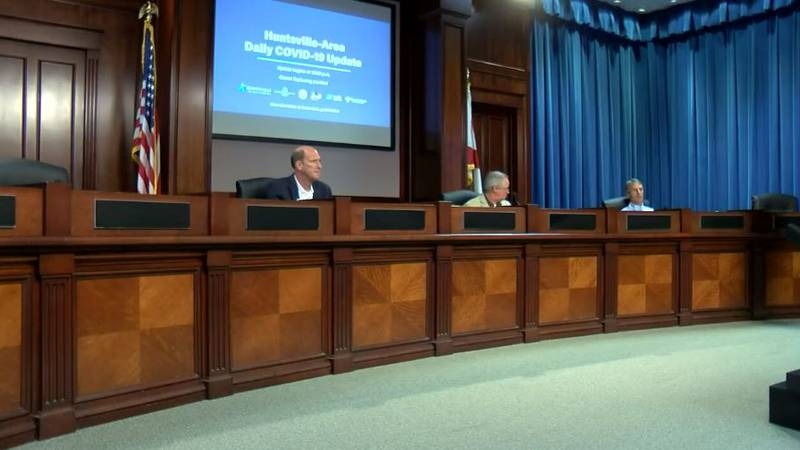 Leaders in Madison County gave a COVID-19 briefing on April 11, 2020.
