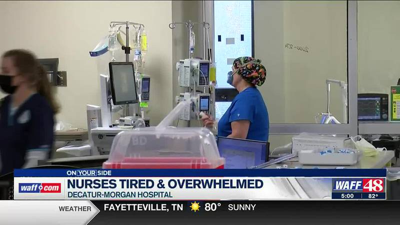 Nurses tired and overwhelmed
